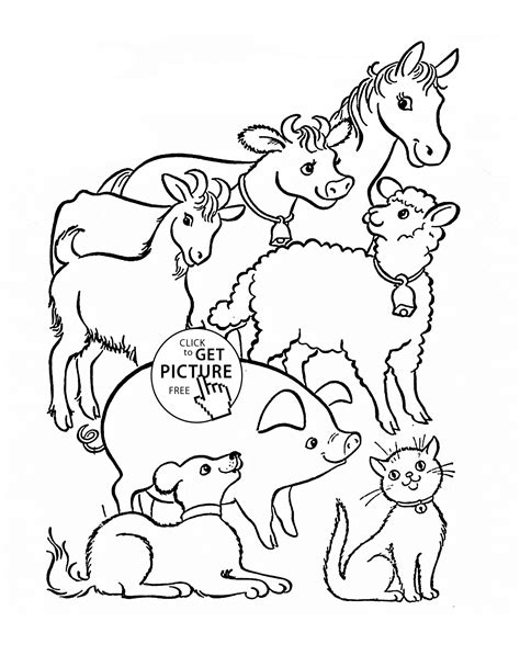 farm animals coloring page  kids animal coloring pages
