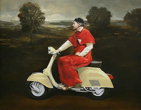 modern vespa renaissance painting with modren twist