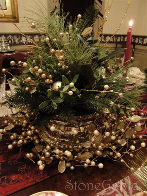 Traditional Christmas Tablescape Stonegable