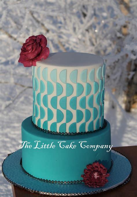 teal wedding cake cakecentralcom