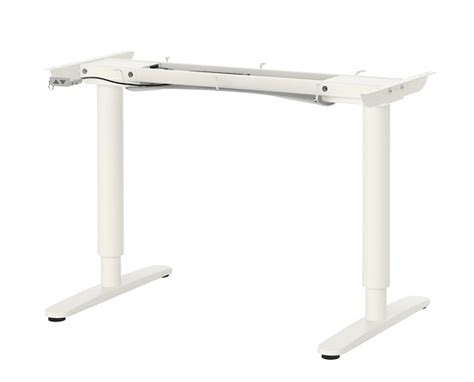 bureau assis debout electrique pied de table reglable en hauteur ikea