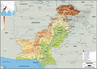 Pakistan Map Carte Cities States Karta Geoatlas