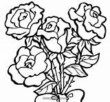 Coloring Roses Pages Adults Print sketch template
