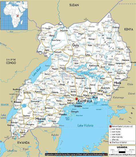 uganda map tourist attractions travelquazcom