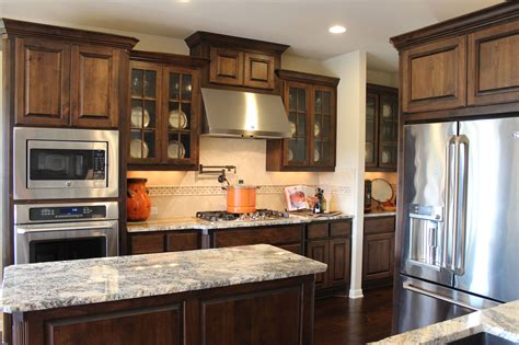 knotty alder kitchen cabinets burrows cabinets kitchen in stained knotty alder and