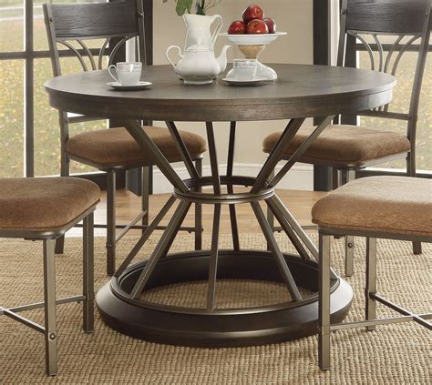 antique black dining table kieran rustic 45 quot antique black iron pedestal dining 4076