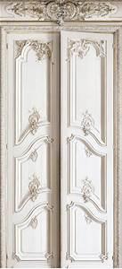 Deco Porte Interieure En Trompe L Oeil : papier peint imitation doubles portes style haussmannien koziel ~ Carolinahurricanesstore.com Idées de Décoration