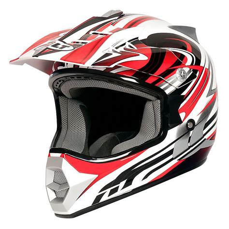 red motocross helmet bilt redemption motocross helmet youth white red med ebay