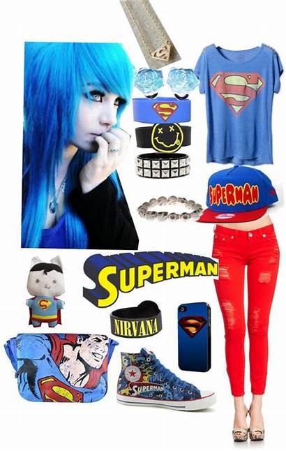 Polyvore Superman Outfits Outfit Hero Really Superhero