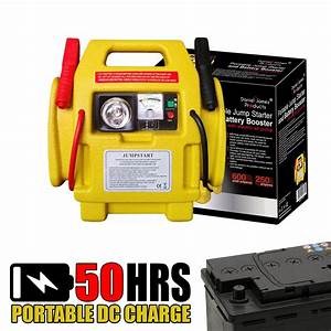 12v Car Battery Jump Starter With Power Booster Lead