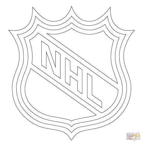 nhl logo coloring page free printable coloring pages