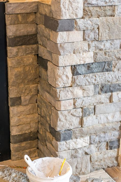 Fitting A Fireplace Insert by Family Room Makeover Part 4 Airstone Fireplace Makeover