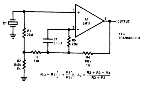 High Input Impedance Amplifier Circuit