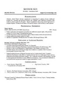 free resume template for accounts receivable clerk resume patent attorney resume exle