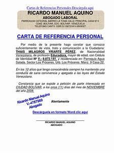ejemplo de carta de referencia personal formato modelo ejemplo carta de referencia personal