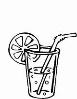 Drinks Drink Coloring Pages Food sketch template