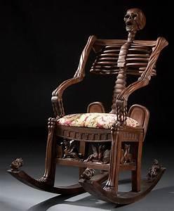 246: Furniture, skeleton rocking chair : Lot 246