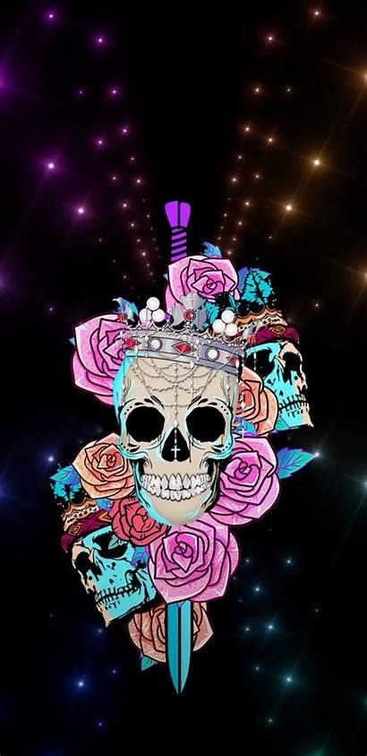 Skull Girly Sugar Iphone Backgrounds Skeleton Skulls