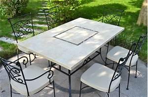 Table Mosaique Jardin : monte carlo table de jardin 160x100 en mosa que de marbre pierre naturelle ~ Teatrodelosmanantiales.com Idées de Décoration
