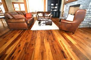 antique hickory floor wood flooring ideas