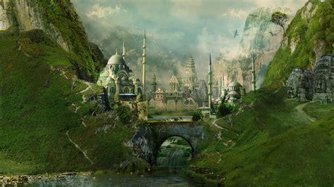fantasy cityscape art wallpapers  computer desktop