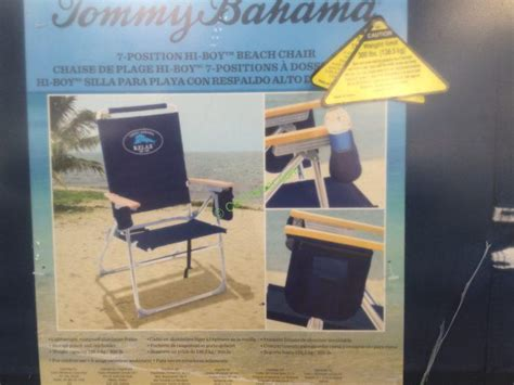 costco 1018188 tommy bahama hi boy beach chair use