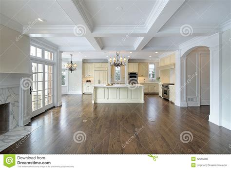 kitchen island table plans kitchen and family room royalty free stock photo image