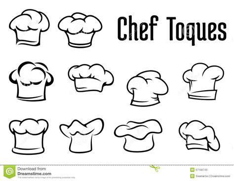 cuisine cook master chef traditional toques caps and hats stock vector