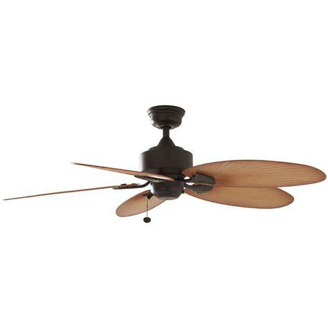 outdoor ceiling fan box hton bay 52 in indoor outdoor aged bronze ceiling fan