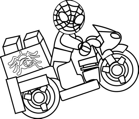 Spiderman Motorcycle Coloring Pages Murderthestout