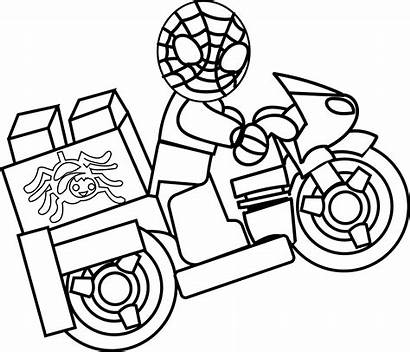 Coloring Spiderman Pages Spider Lego Colouring Printable
