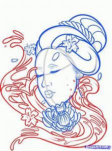 How To Draw A Geisha Tattoo Step By Step Tattoos Pop