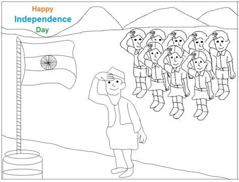 Indian Independence Day Coloring Pages by Coloring Pages For Independence Day