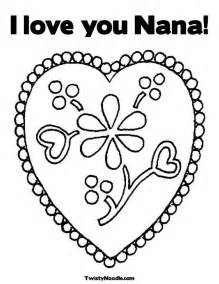 I Love You Nana Coloring Pages