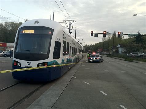 nearest light rail hit by light rail rainier station