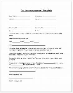 Car lease agreement template microsoft word templates for Car lease document template