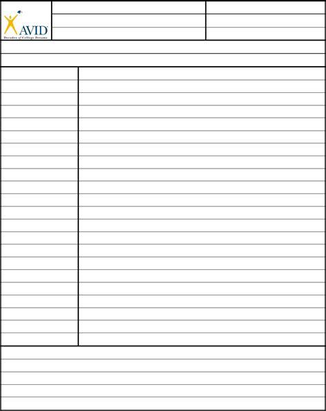 avid cornell notes template cornell notes template avid edit fill sign handypdf