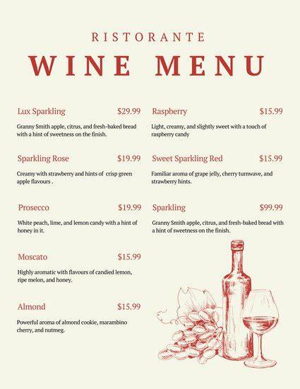 Wine Dinner Menu Template Customize 248 Wine Menu Templates Canva