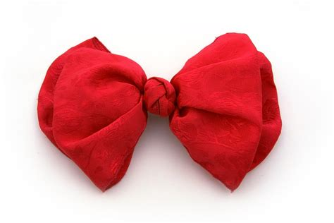 Free Red Hair Bow Stock Photo