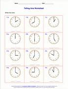 Telling Time Worksheets For 2nd Grade Time And End With A P M Time Or Vice Versa The Problems Are Time Worksheets For Telling The Time With Clock Faces Worksheet 7 The Time On The Clock Face One Minute Intervals Large Clock Size