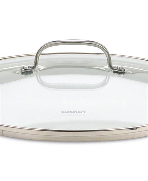 cuisinart chefs classic stainless steel  pc glass lid set reviews cookware kitchen macys