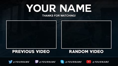 video template foto free outro template nelson designs youtube
