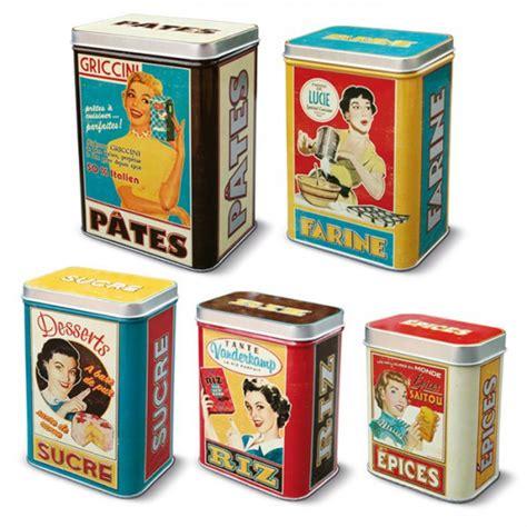 boite cuisine vintage set de 5 boîtes alimentaires quot quot natives déco