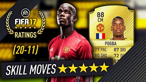 88 Pogba Is 5 Star Skills!! Official Top 50 Fifa 17