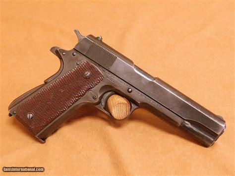 Colt 1911a1 Mfg 1944 Ww2 High Standard Barrel Keyes Grips