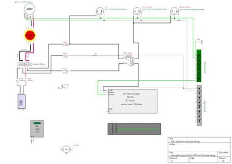 Router Wiring Diagram by Wiring A Cnc Router Electronic Enclosure Doityourself