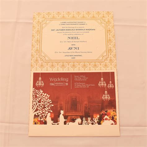 Rajasthani Style Indian Wedding Invitation Card IWM 1627