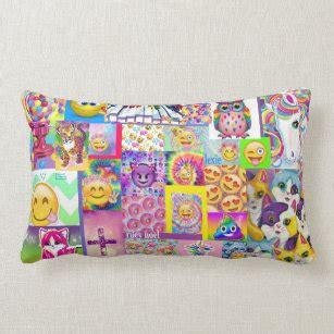 girls emoji pillows decorative throw pillows zazzle