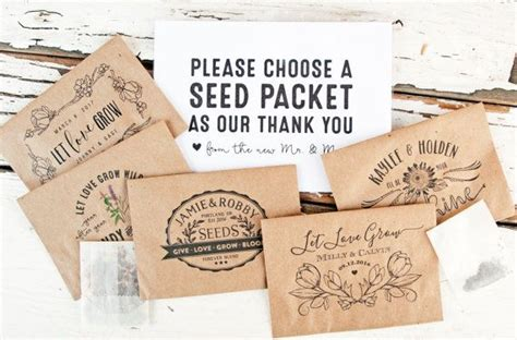 seed packet wedding favors personalized seed favors