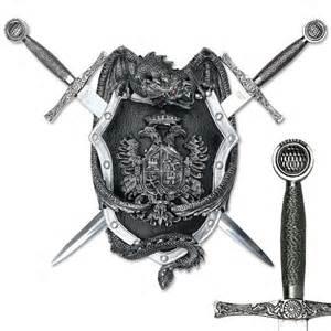 Dragon Shield Crest w/ Two Swords